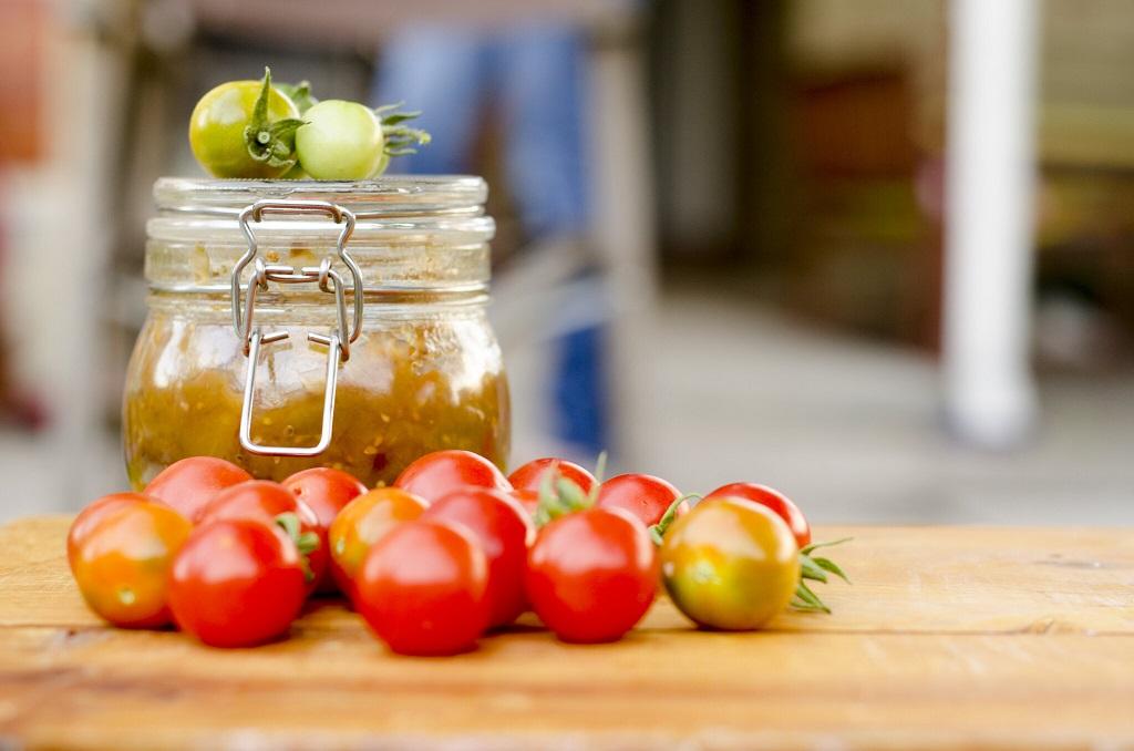 confiture de tomates vertes