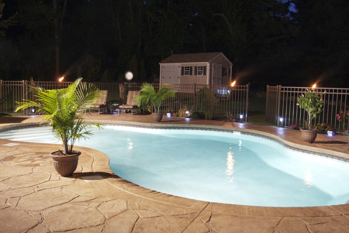 piscine creusée en béton